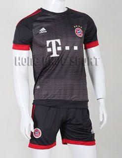 Đồ đá banh Bayern Munich 2015-2016 sân khách mẫu thứ 3 màu đen