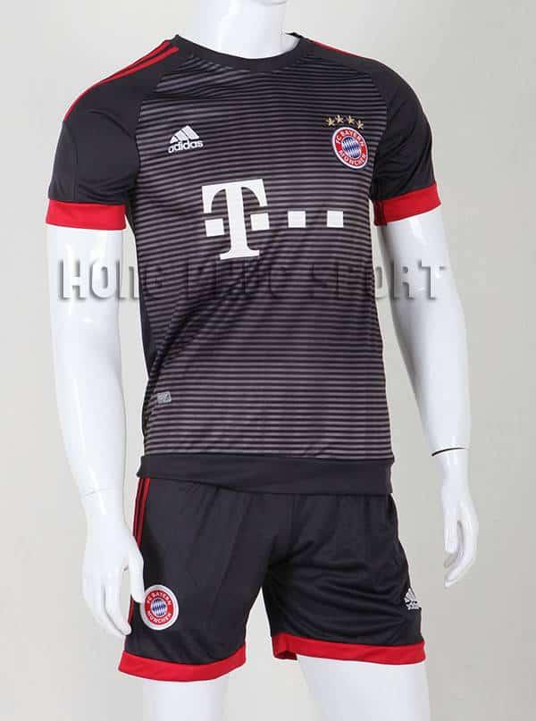 Bộ quần áo đá banh Bayern Munich 2015-2016 sân khách mẫu thứ 3 màu đen