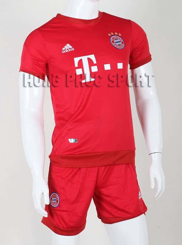 Bộ quần áo đá banh Bayern Munich 2015-2016 sân nhà màu đỏ