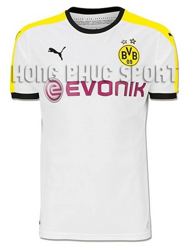 Mẫu áo đá banh Dortmund 2015-2016 sân khách màu trắng