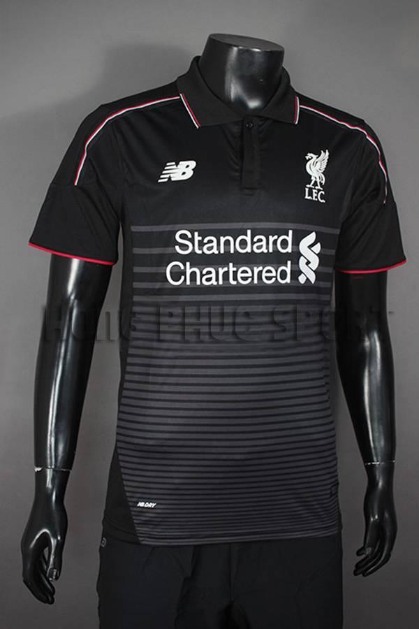 Đồ đá banh Liverpool 2015-2016 sân khách mẫu thứ 3 màu đen