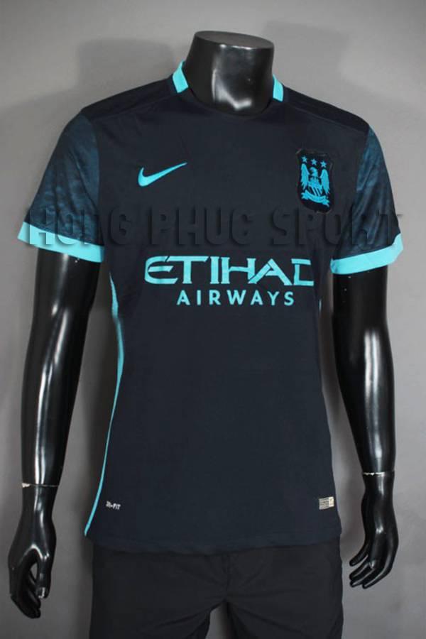 Mẫu áo đá banh Man city 2015-2016 sân khách màu xanh tím than