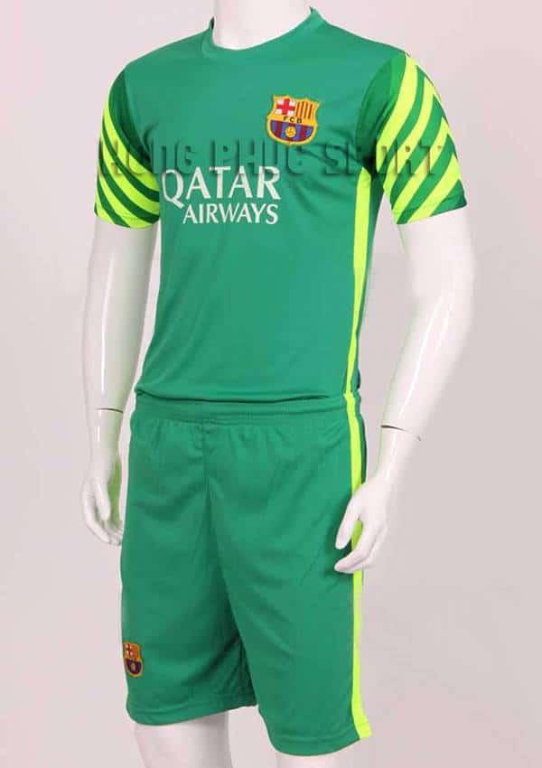Đồ đá banh thủ môn Barca 2015-2016 xanh lá cây