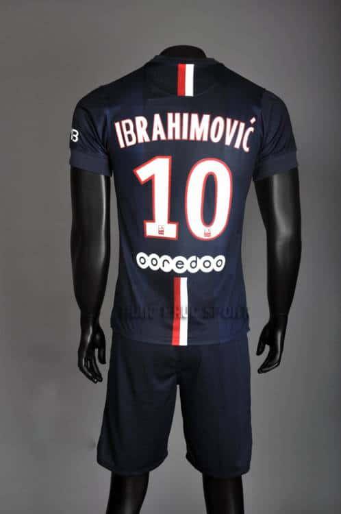 Mặt sau Bộ quần áo PSG sân nhà 2014-2015
