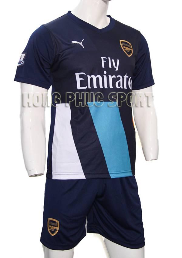 Mẫu áo đá banh Arsenal 2015-2016 sân khách mẫu thứ 3 màu xanh bích