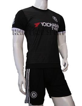 Bộ quần áo chelsea đen 2015-2016 sân khách mẫu 3