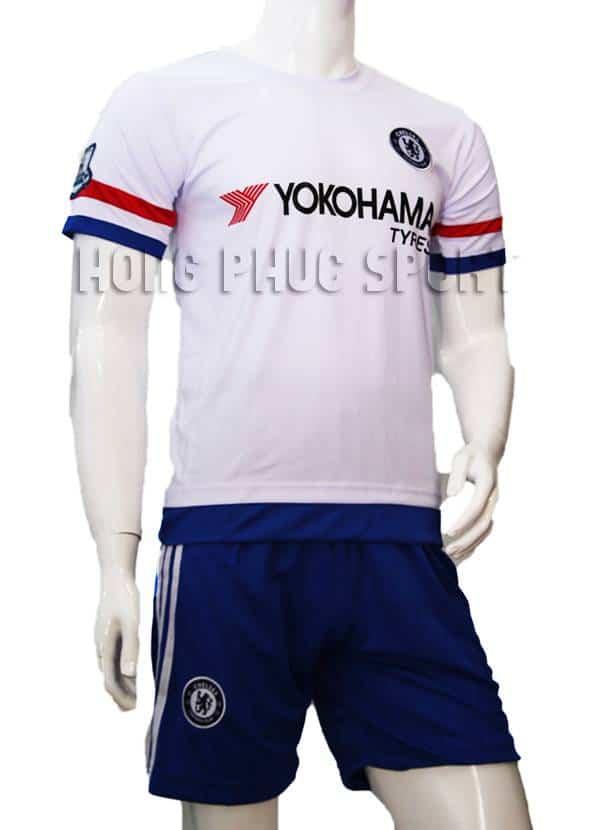 Bộ quần áo đá banh Chelsea 2015-2016 sân khách màu trắng