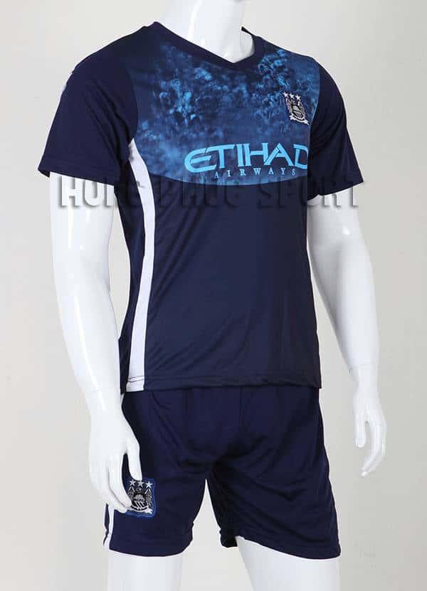 Bộ quần áo đá banh Manchester City 2015-2016 sân khách màu xanh đen