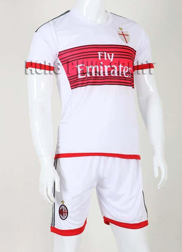 Bộ quần áo đá banh AC Milan 2015-2016 sân khách màu trắng