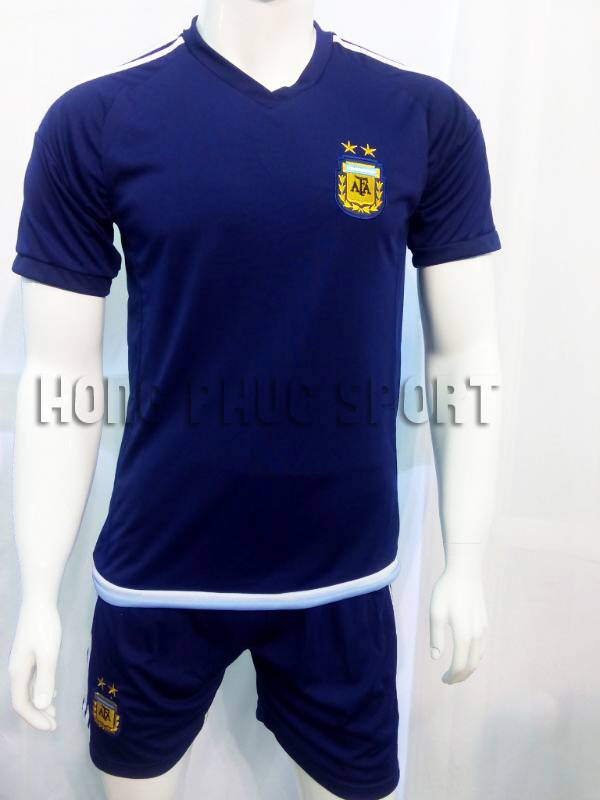 Bộ quần áo đá banh Argentina 2015-2016 sân khách màu đen