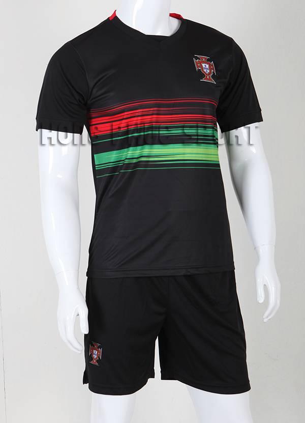 Bộ quần áo đá banh Bồ Đào Nha 2015-2016 sân khách màu đen