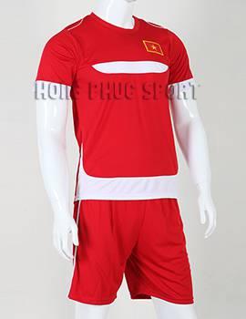 Đồ đá banh Training 2015-2016 màu đỏ cờ phối trắng