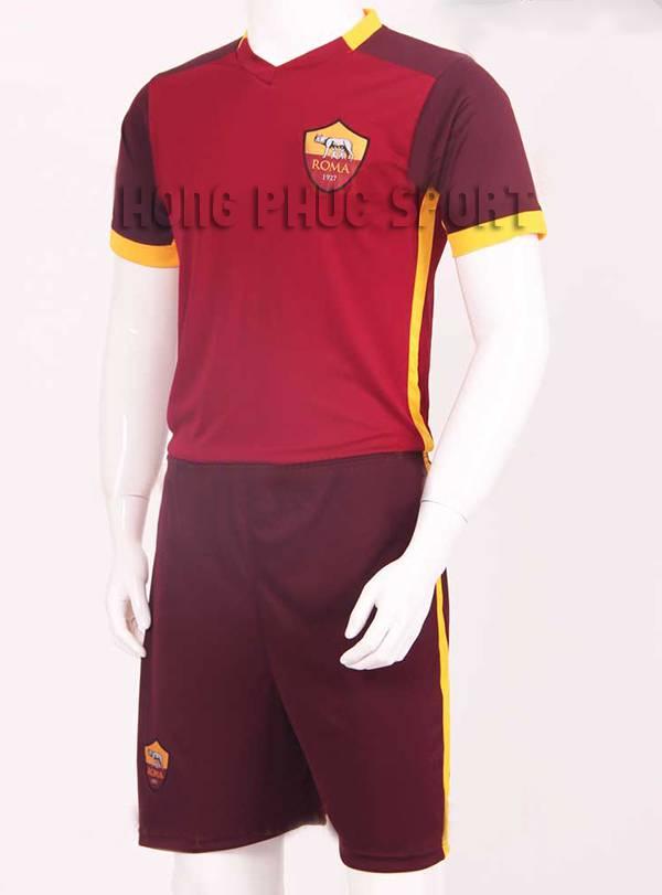 Mẫu áo đá banh AS Roma 2015-2016 sân nhà màu bã trầu