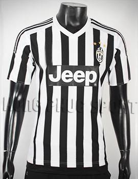 Bộ quần áo đá banh Juventus 2015-2016 sân nhà sọc đen trắng