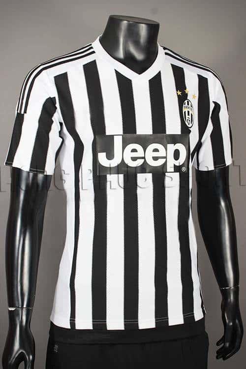 Đồ đá banh Juventus 2015-2016 sân nhà sọc đen trắng