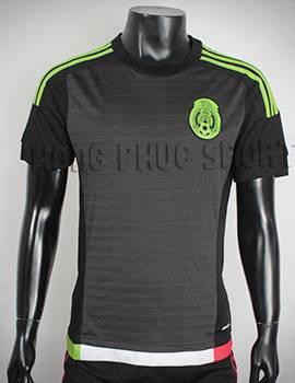 Đồ đá banh Mexico 2015-2016 sân nhà màu đen