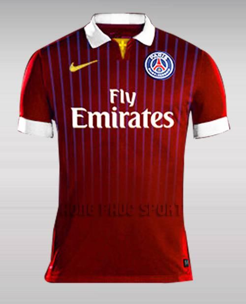 Mẫu áo đá banh Paris Saint-Germain 2015-2016 sân khách mẫu thứ 3 màu đỏ