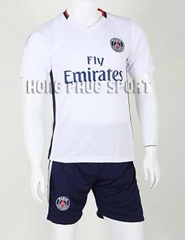 Bộ quần áo đá banh Paris Saint-Germain 2015-2016 sân khách màu trắng