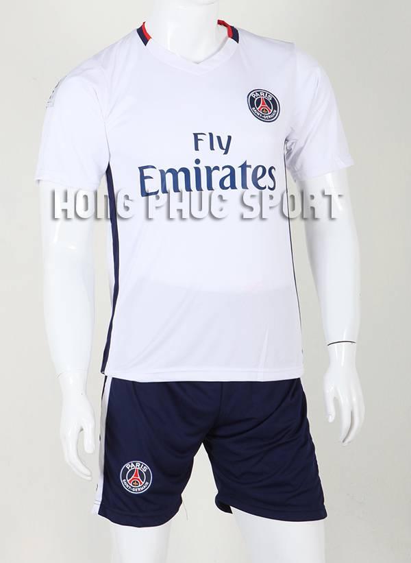 Đồ đá banh Paris Saint-Germain 2015-2016 sân khách màu trắng