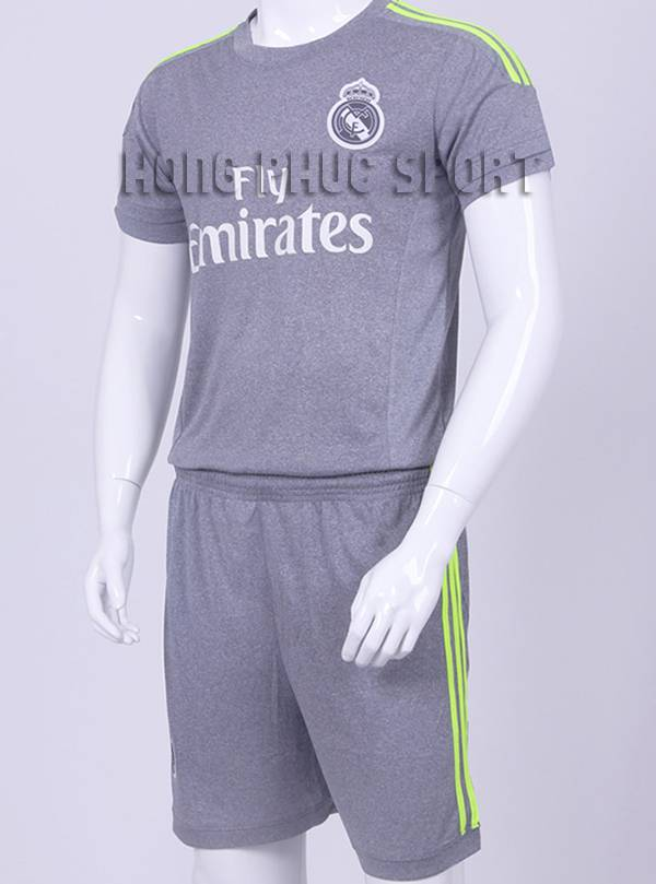 Đồ đá banh Real Madrid 2015–2016 sân khách màu xám