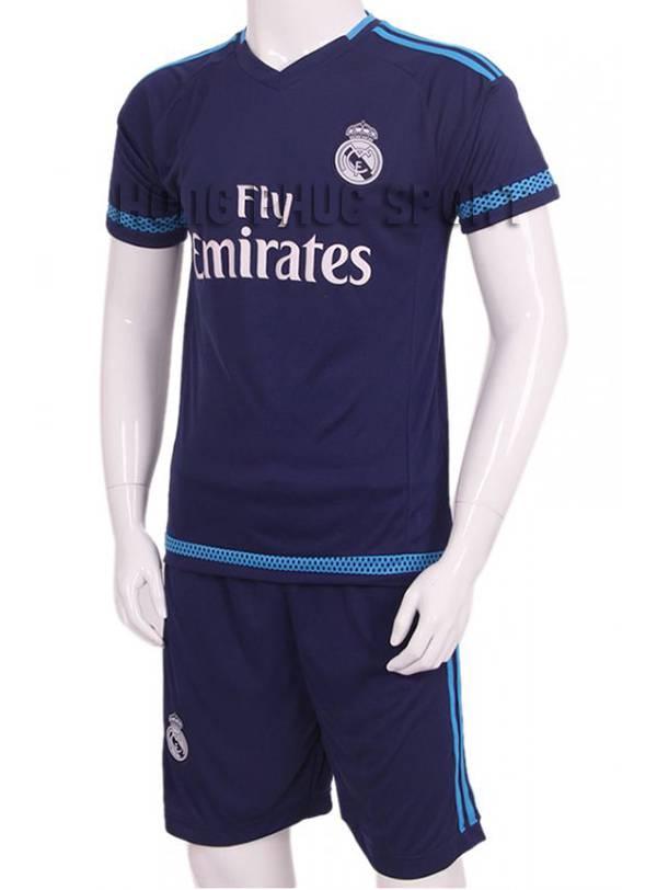 Mẫu áo Real 2015-2016 sân khách màu xanh mẫu thứ 3