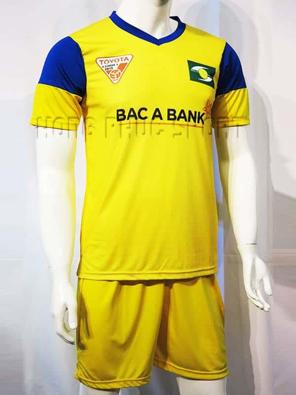 Mẫu áo Sông Lam Nghệ An 2015-2016 màu vàng