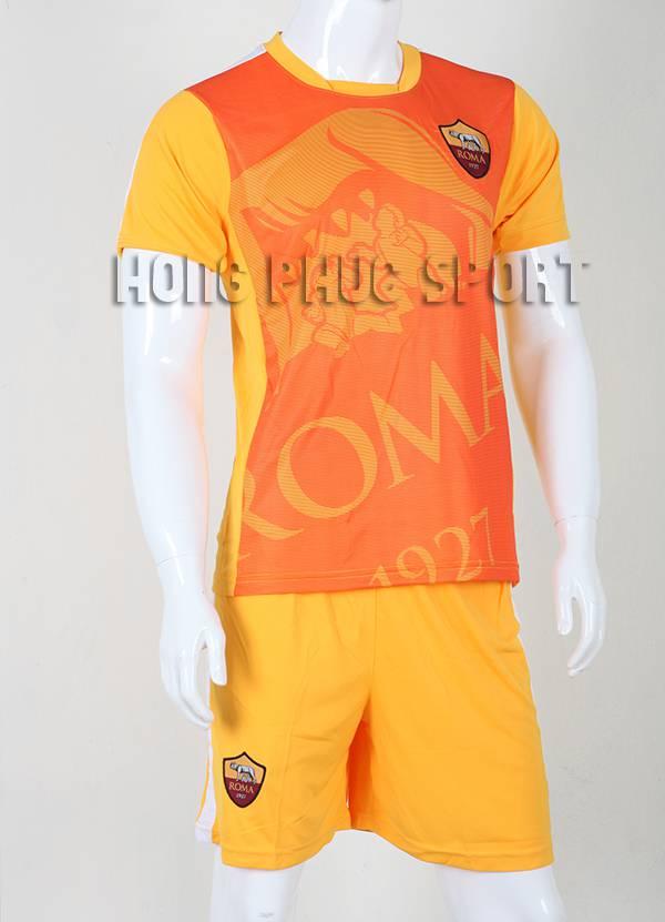 Mẫu áo tập AS Roma 2015-2016 màu vàng phối cam
