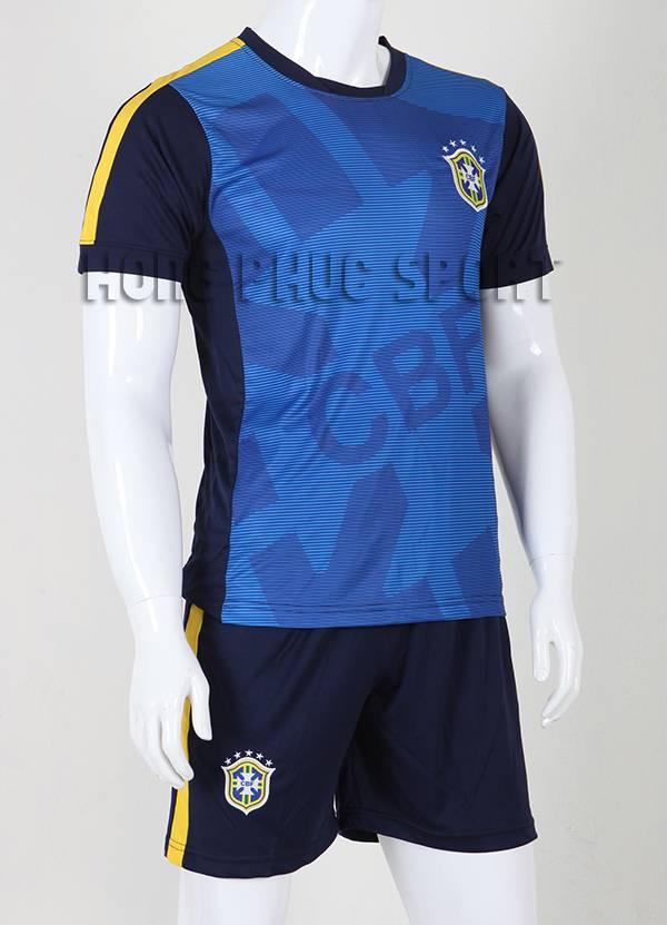 Mẫu quần áo đá banh training tuyển Brazil 2015-2016 màu xanh đen