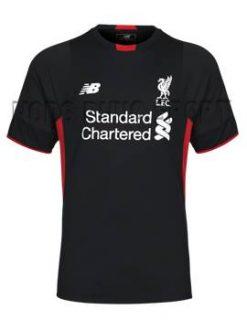 Đồ đá banh thủ môn Liverpool 2015-2106 màu đen tay ngắn