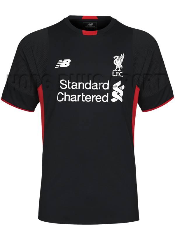 Mẫu áo đá banh thủ môn Liverpool 2015-2106 màu đen tay ngắn