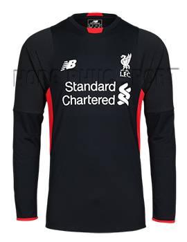 Mẫu áo đá banh thủ môn Liverpool 2015-2106 màu đen tay dài