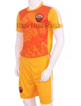 Mẫu áo đá banh áo tập AS Roma 2015-2016 màu vàng phối cam