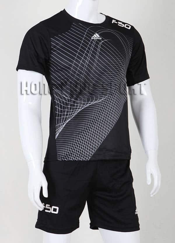 Bộ quần áo training F50 không logo 2015-2016 màu đen