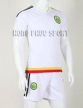 Bộ quần áo đá banh Mexico 2015-2016 sân khách màu trắng