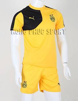 Đồ đá banh Dortmund 2015-2016 sân nhà màu váng phối đen