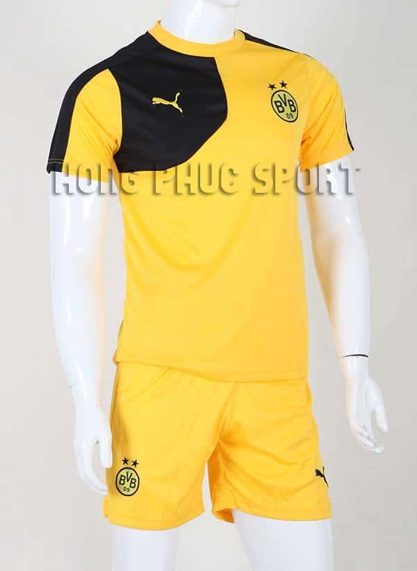 Bộ quần áo đá banh Training Dortmund 2015-2016 màu váng phối đen