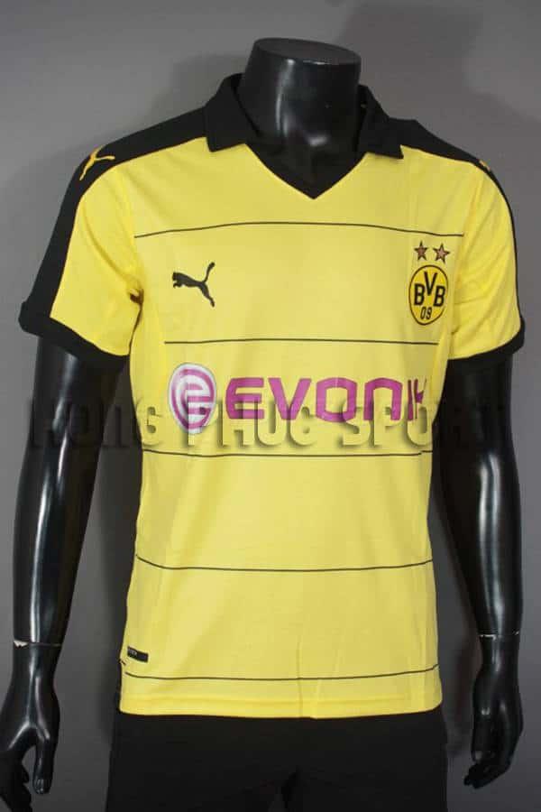 Bộ quần áo đá banh Dortmund 2015-2016 sân nhà màu vàng phối đen