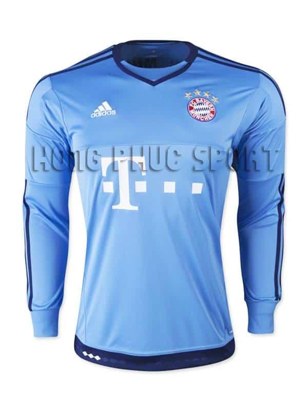 Đồ đá banh thủ môn bayern munich 2015-2016 màu xanh dương.