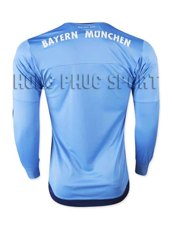 Mẫu áo thủ môn bayern munich 2015-2016 màu xanh dương mặt sau
