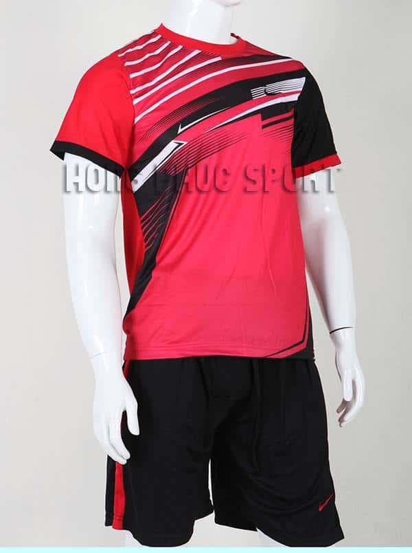Bộ quần áo đá banh áo Nike không logo 2015-2016 màu đỏ hồng phối đen