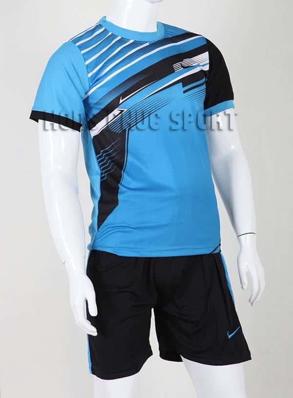 Bộ quần áo đá banh áo Nike không logo 2015-2016 màu xanh dương