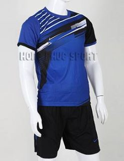Bộ quần áo đá banh áo Nike không logo 2015-2016 màu xanh biển