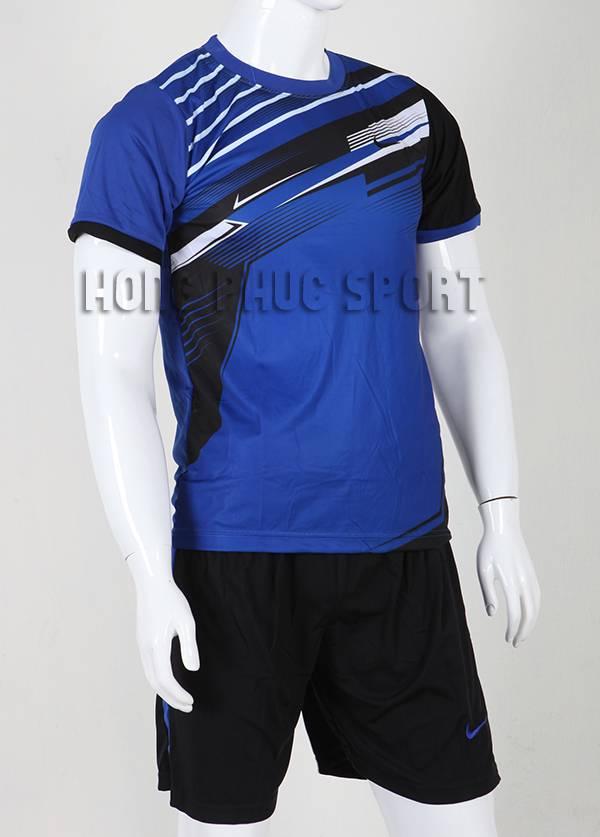Đồ đá banh áo Nike không logo 2015-2016 màu xanh biển