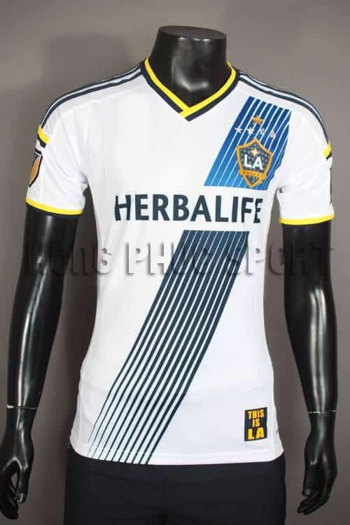 Bộ quần áo đá banh La Galaxy 2015-2016 sân nhà màu trắng