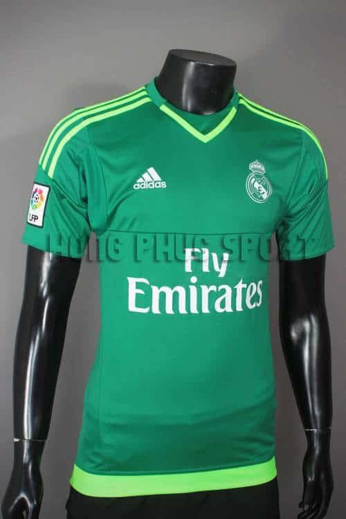 Bộ quần áo thủ môn Real 2015-2016 xanh lá cây