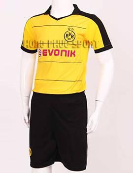 Mẫu áo đá banh Dortmund 2015-2016 sân nhà màu vàng phối đen