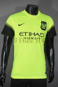 Bộ quần áo tập Man city 2015-2016 mẫu thứ 3 xanh chuối