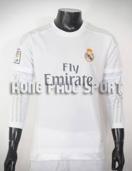 Mẫu áo đá banh Real 2015-2016 sân nhà dài tay