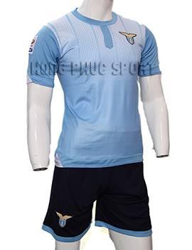Mẫu áo đá banh lazio 2015-2016 sân nhà màu xanh