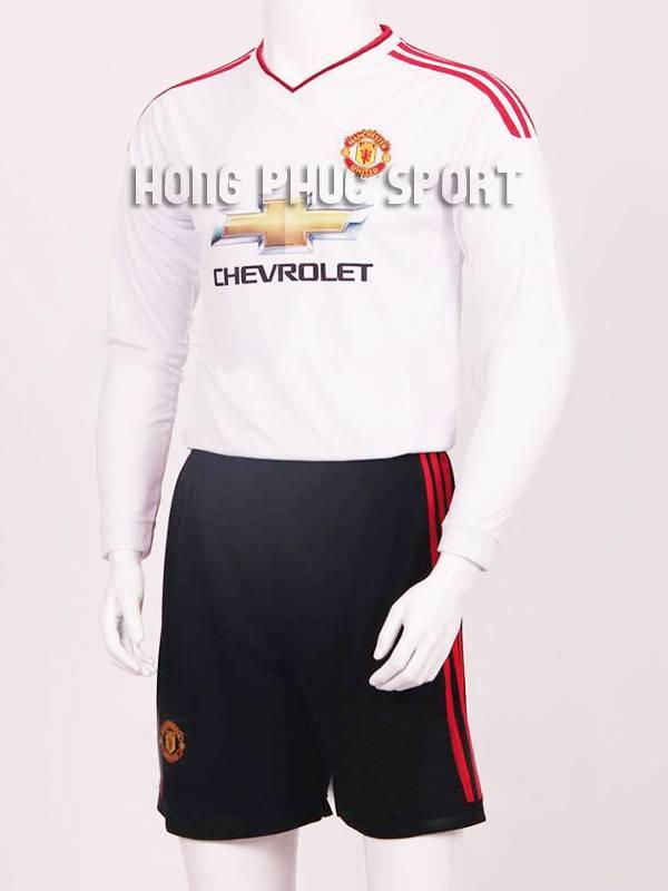 Mẫu áo đá banh Manchester United tay dài 2015-2016 sân khách